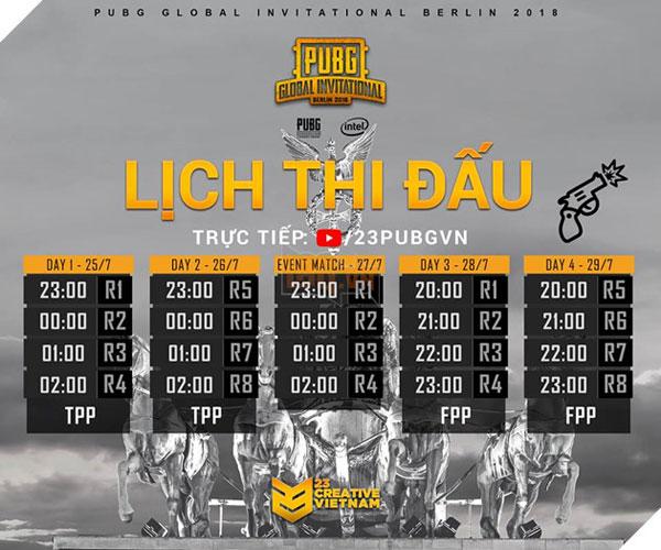 Lịch thi đấu PGI 2018