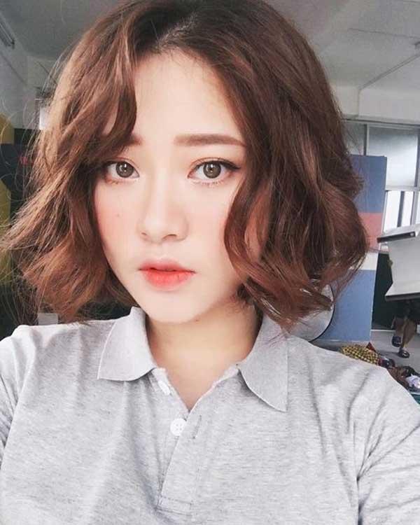tóc ngắn uốn xoăn 2019